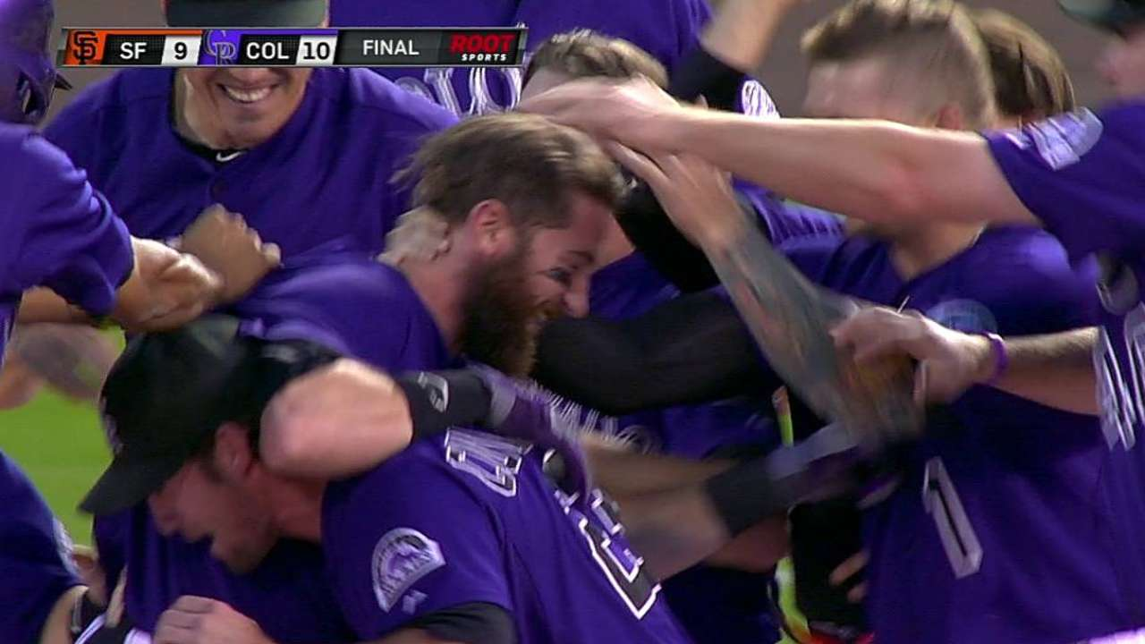 Rockies' big surge ends with walk-off win