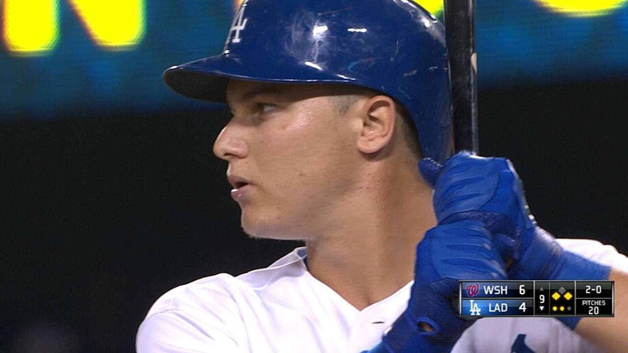 Dodgers put prospect Pederson right into fire