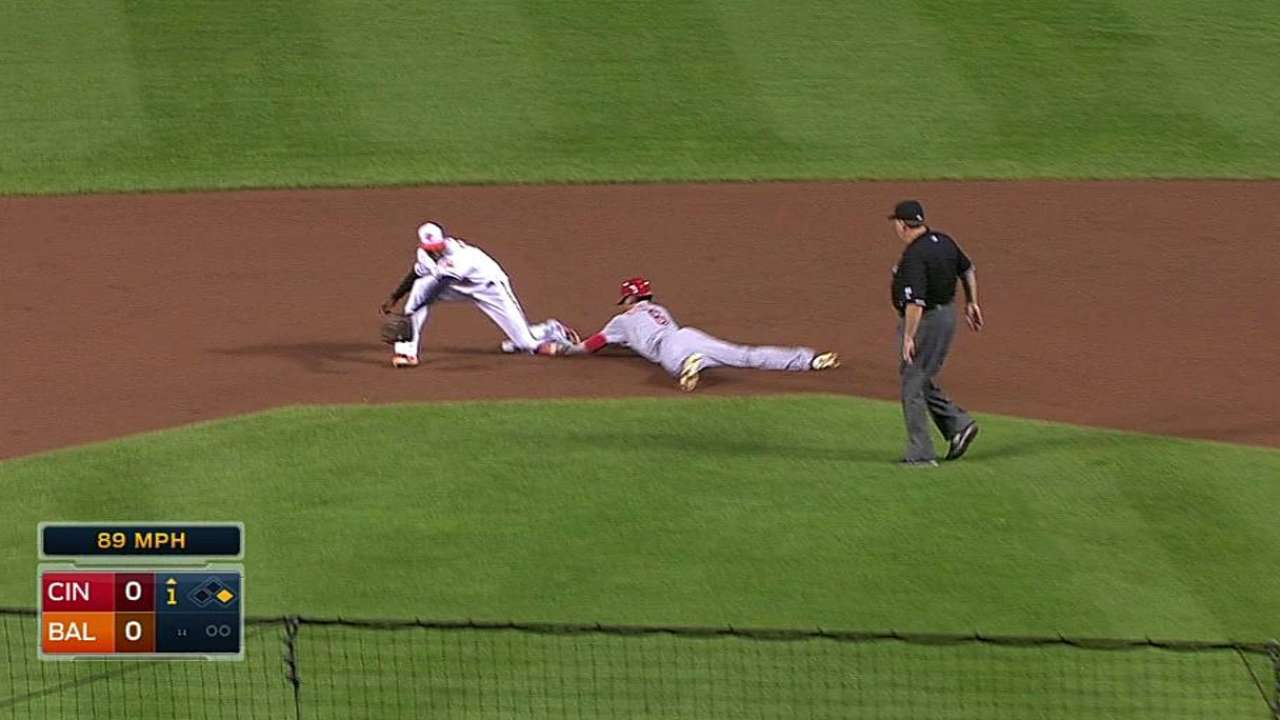 Hamilton dashes into Reds history with 55th steal