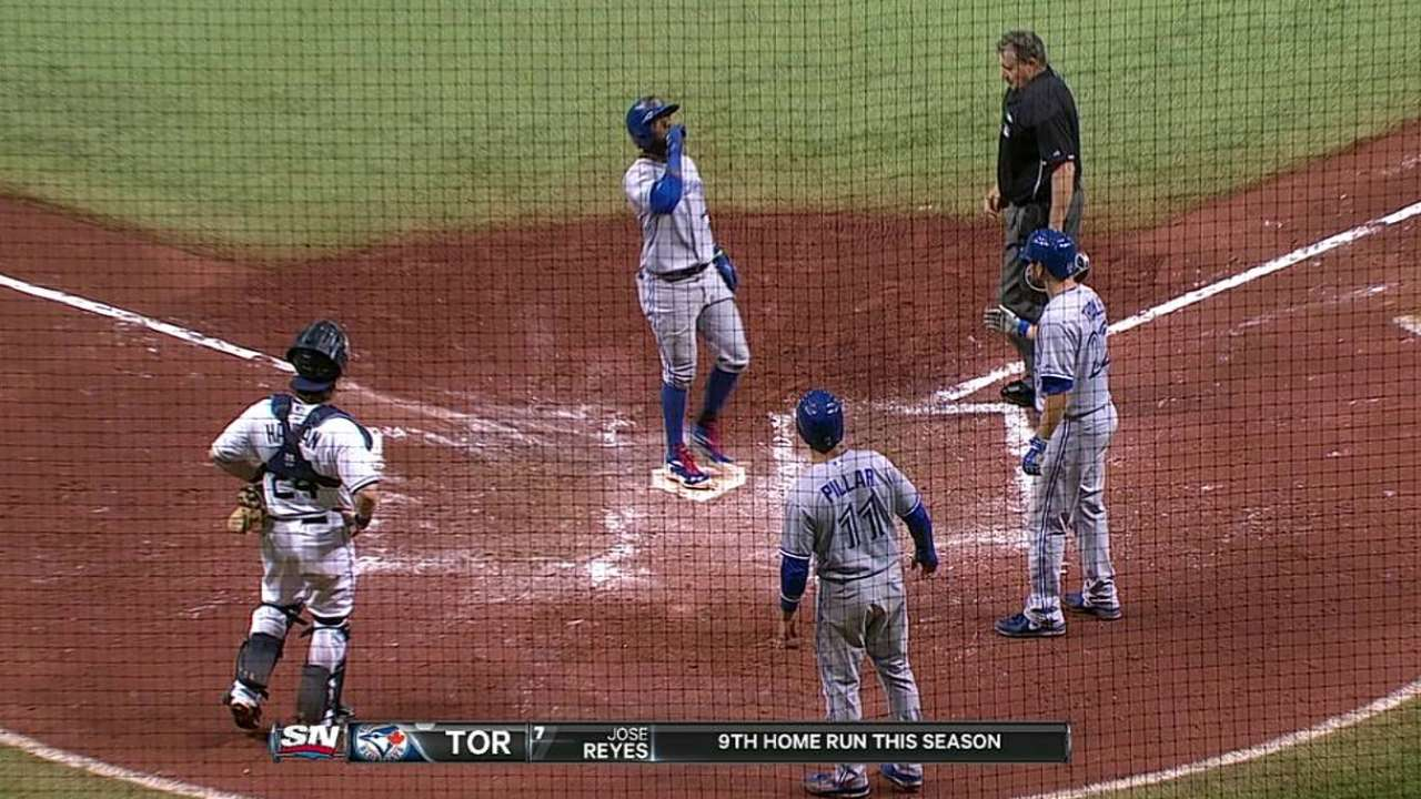 Blue Jays recharge power game to sink Rays