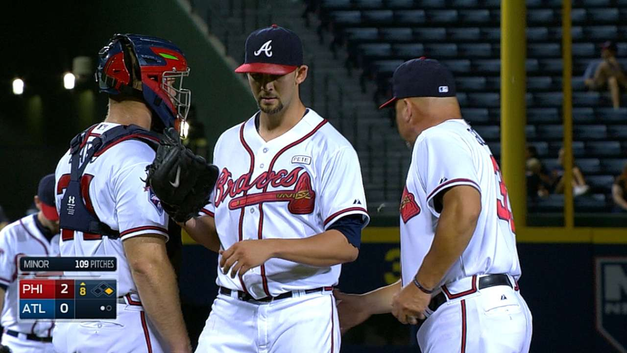 Braves remain quiet in Minor's quality outing