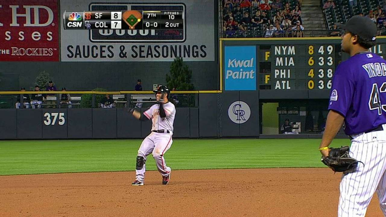 Pence joins special club with 100th run