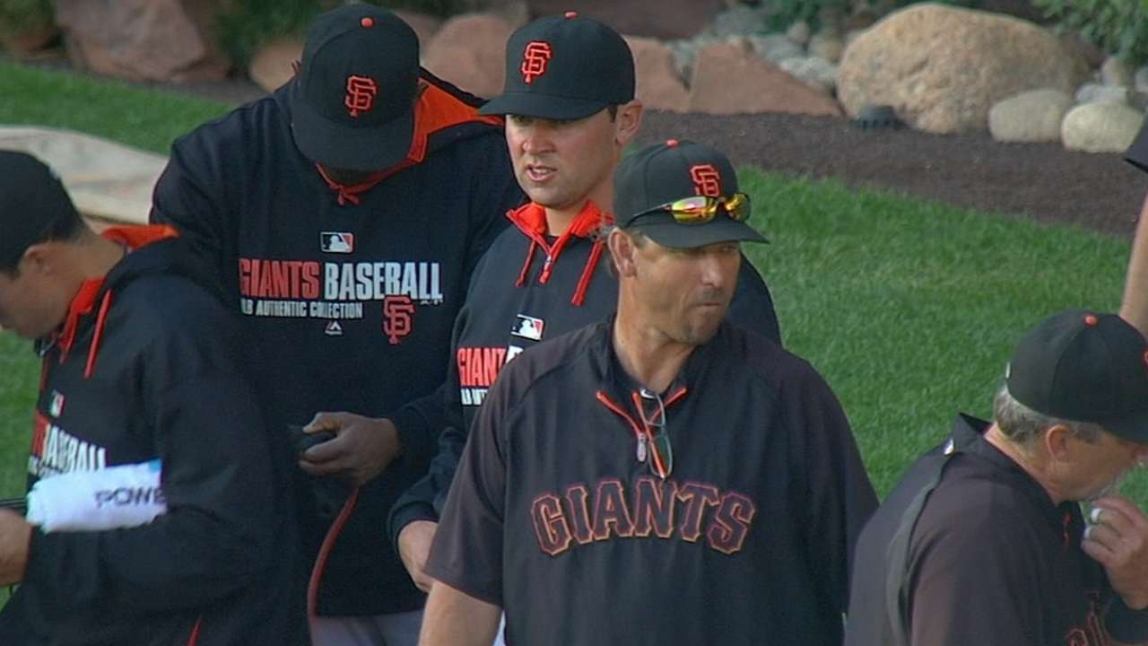 Bochy becomes seventh to manage a son