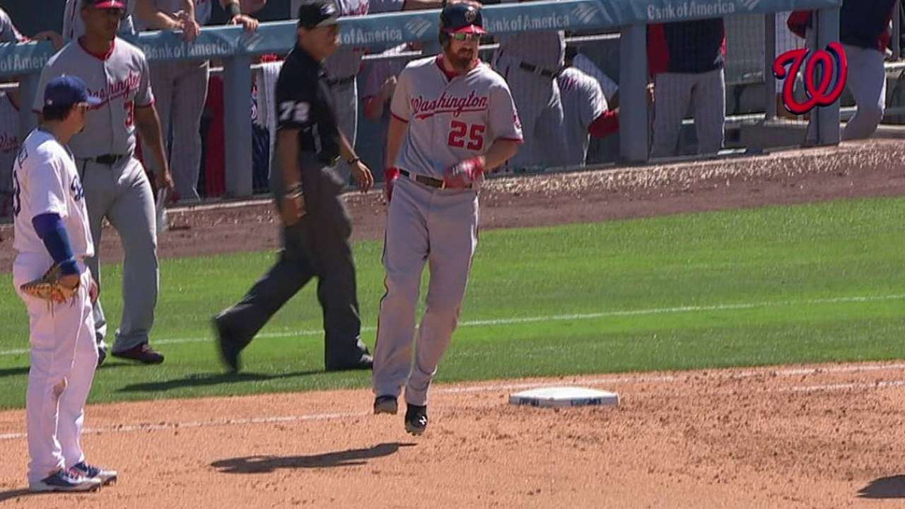 Nats outlast Dodgers in marathon matinee game