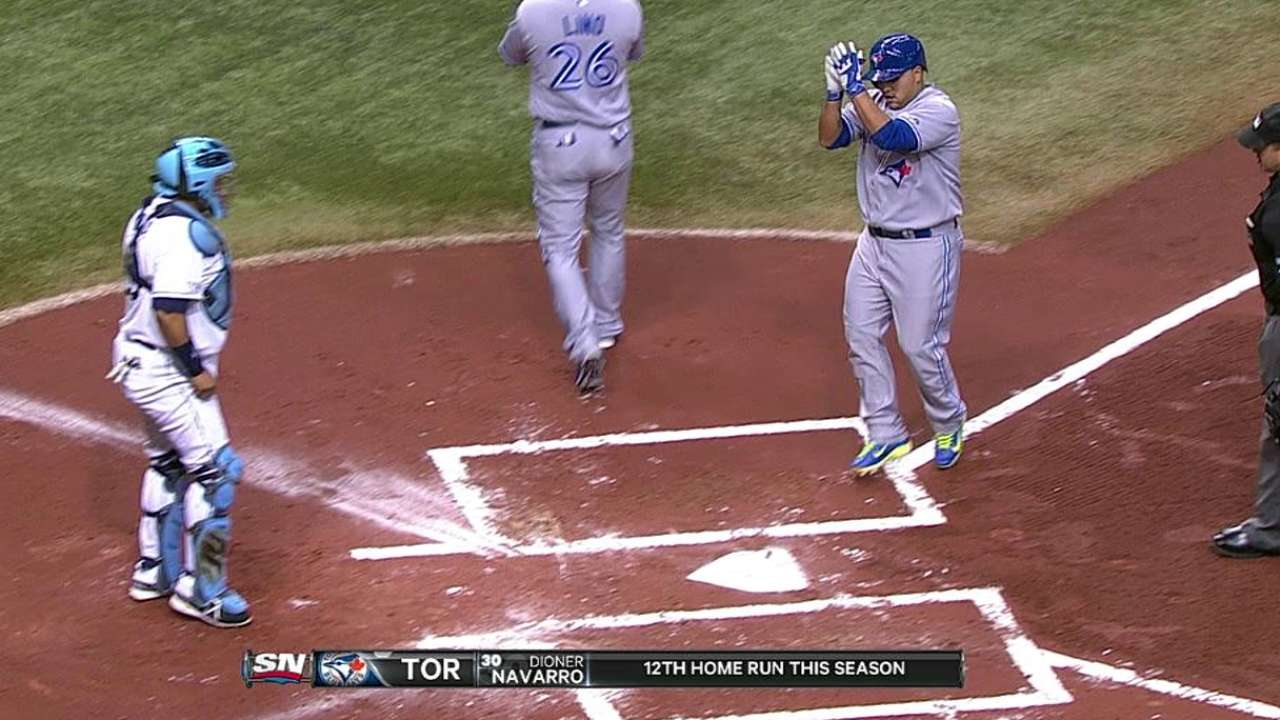 Rays no pudieron con potente ataque de Azulejos