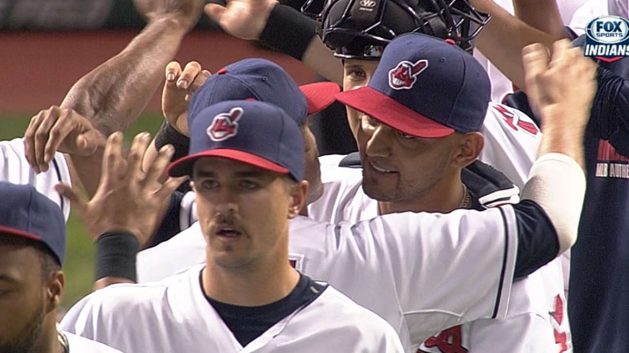 With Salazar's first shutout, Tribe gains on Tigers
