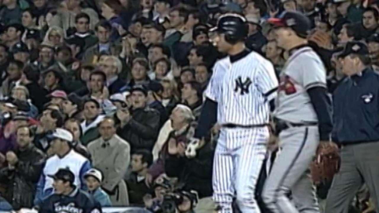 Jeter's first World Series hit