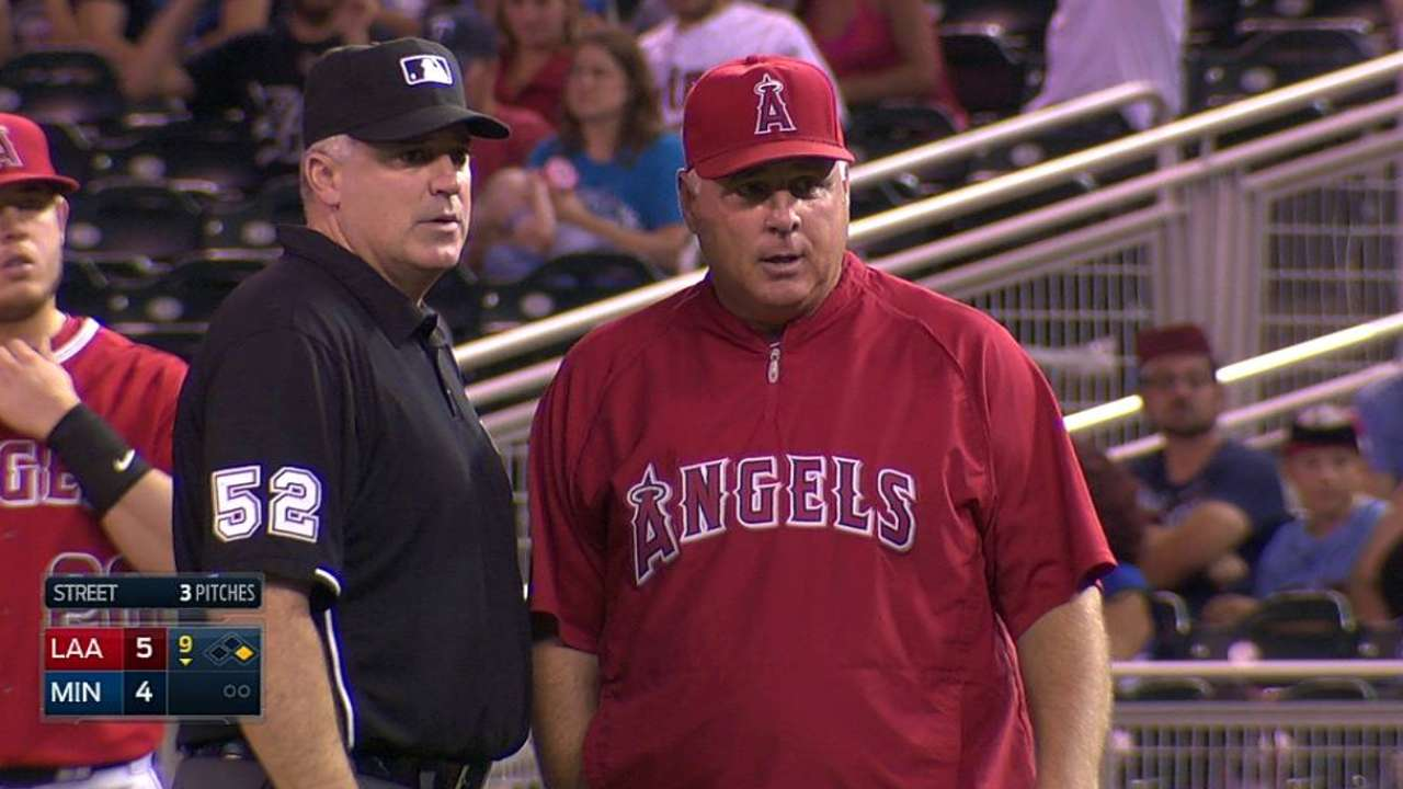 Scioscia challenges, but call stands