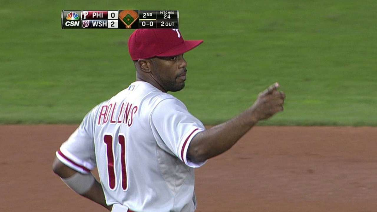 Rollins named Phillies' nominee for Clemente Award