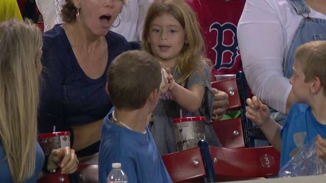 Kid Steals Baseball From Girl   Best Funny Gifs Updated Daily