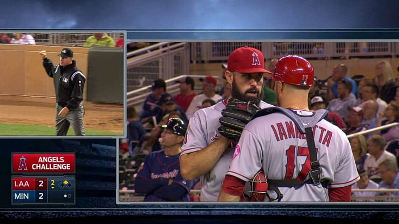 Scioscia's challenge gives Angels a double play