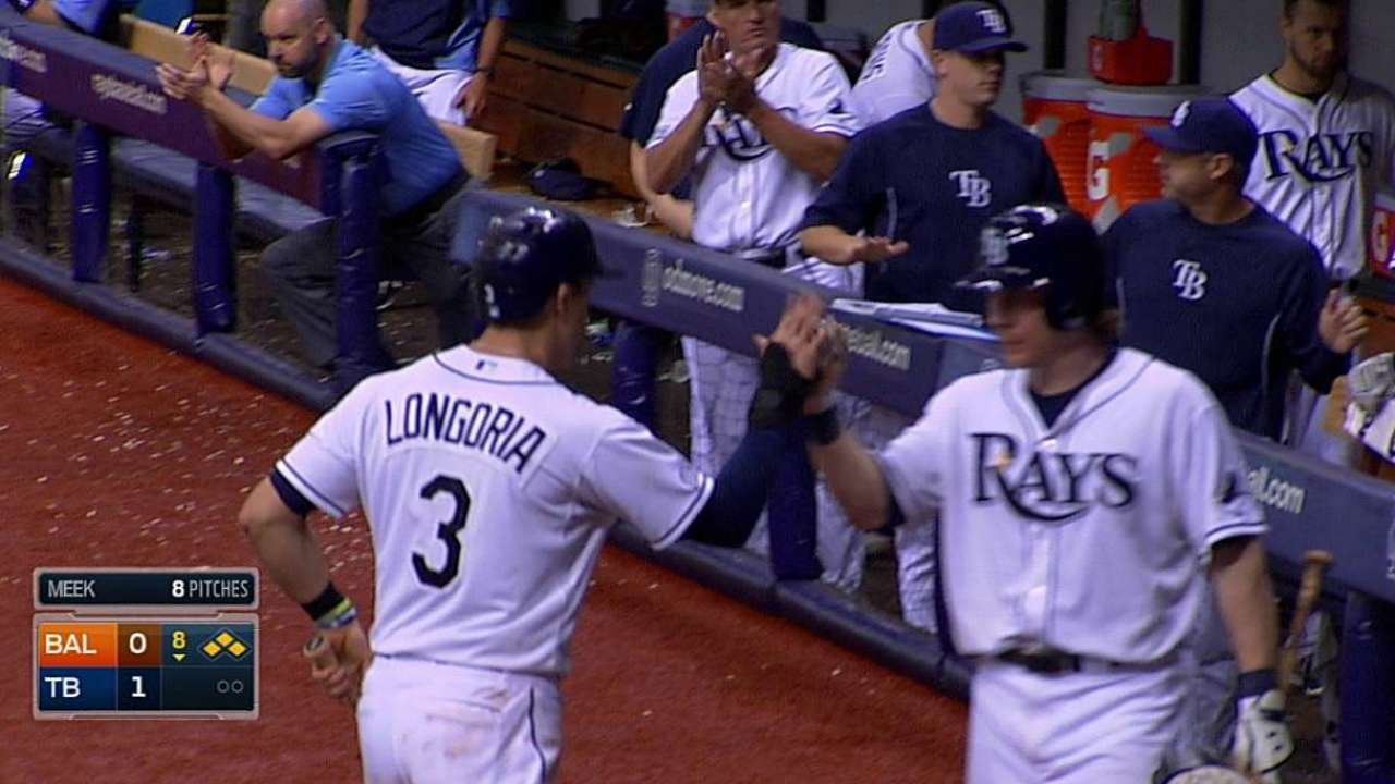 Eighth-inning rally edges out AL East leaders