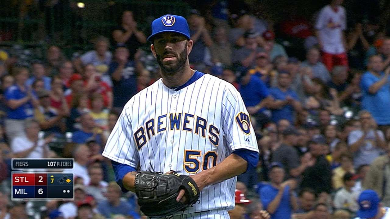Fiers just the man Brewers needed to play stopper