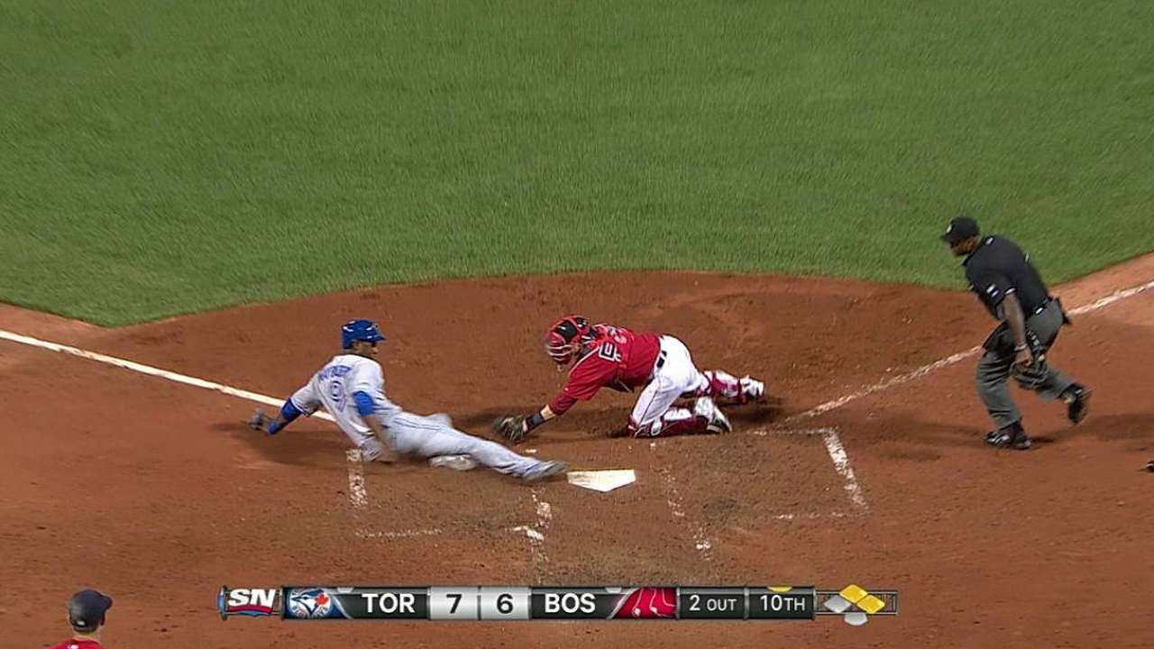 Sox lose challenge on play at plate
