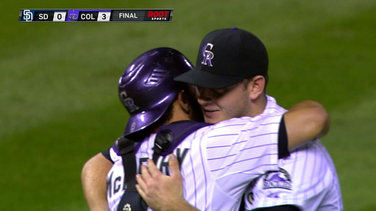 Matzek stymies Padres in first career shutout