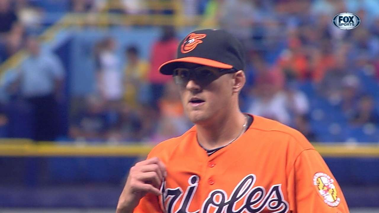 O's fall to Rays on walk-off passed ball