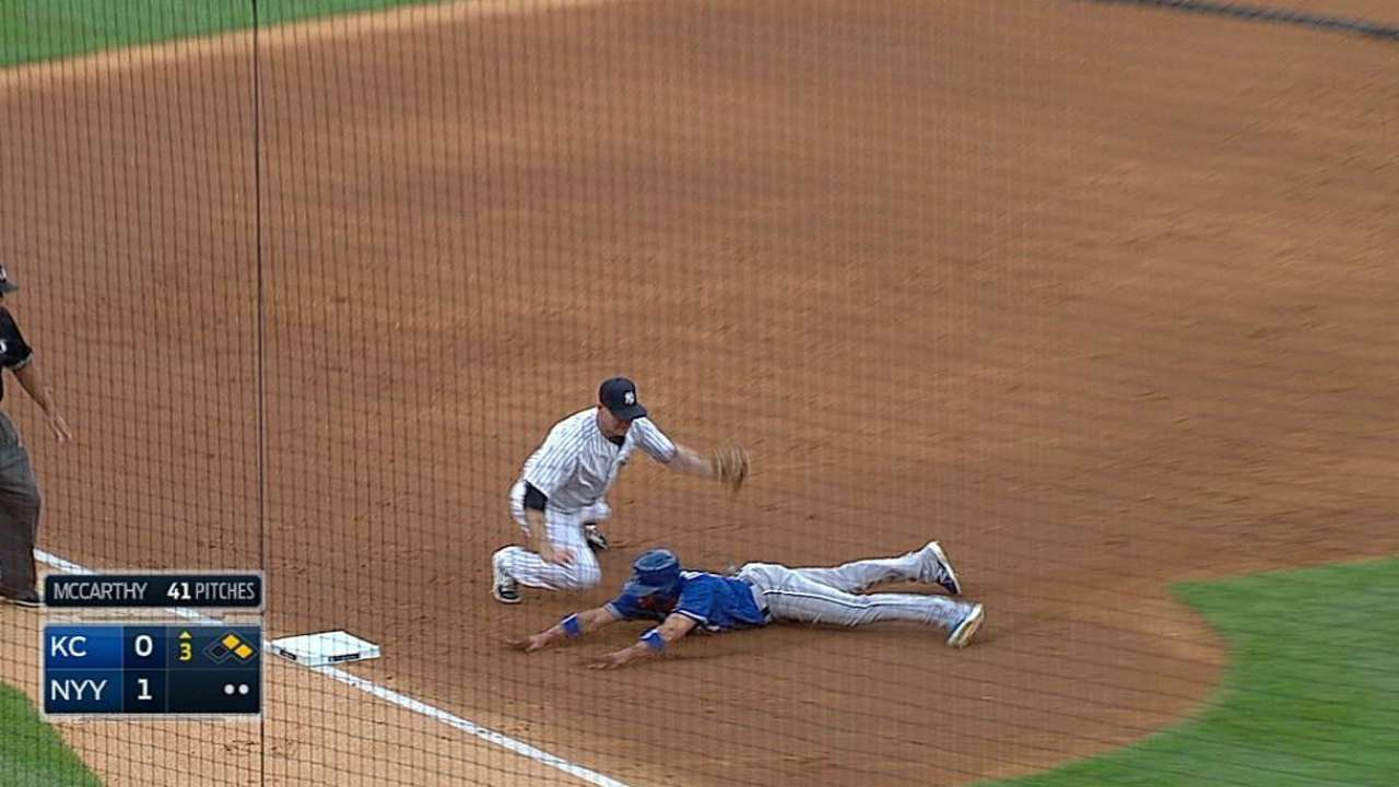 Royals fall to Yanks after losing Duffy to injury