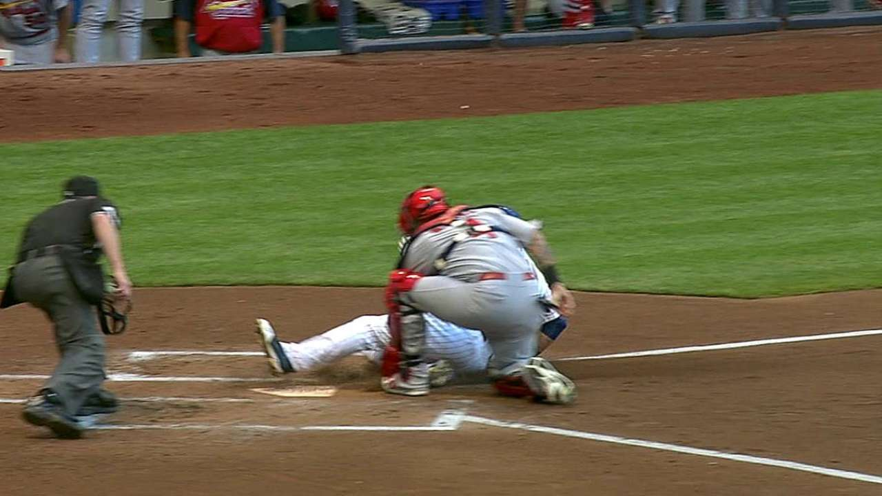 Matheny's challenge results in Braun out at home