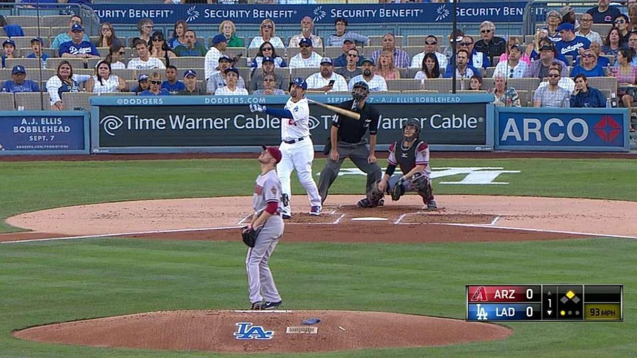 González jonronea y L.A. amarra serie vs. D-backs