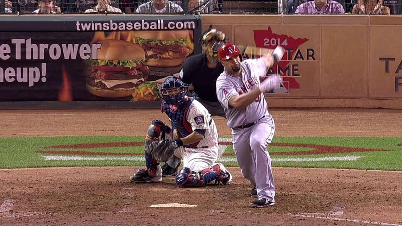Pujols' milestone night keeps Angels out front