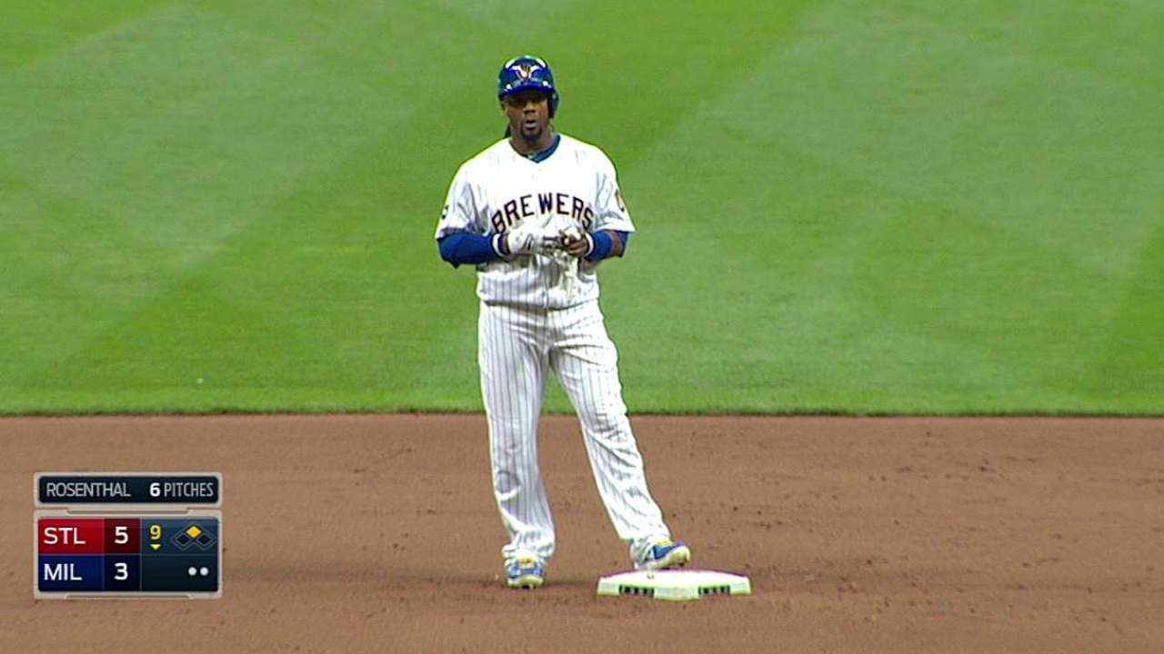 Weeks is 12th Brewer to amass 1,000 base hits