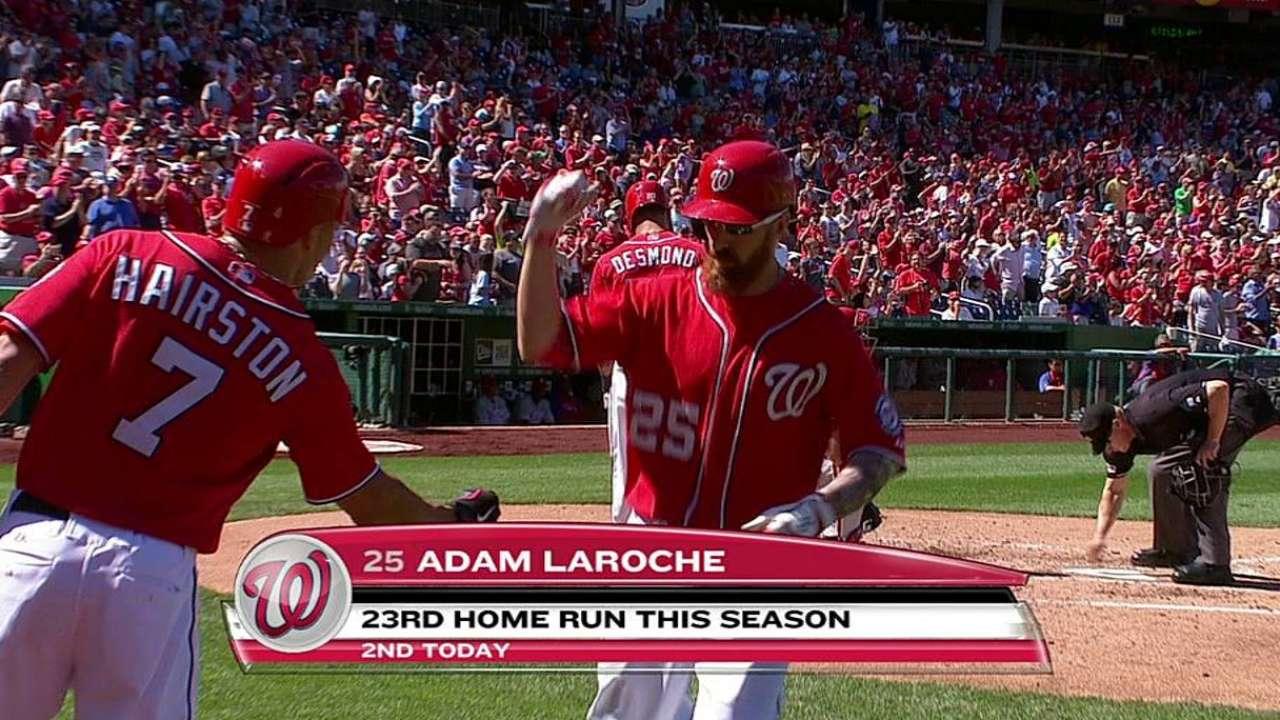 LaRoche's two homers help Nats edge Phillies