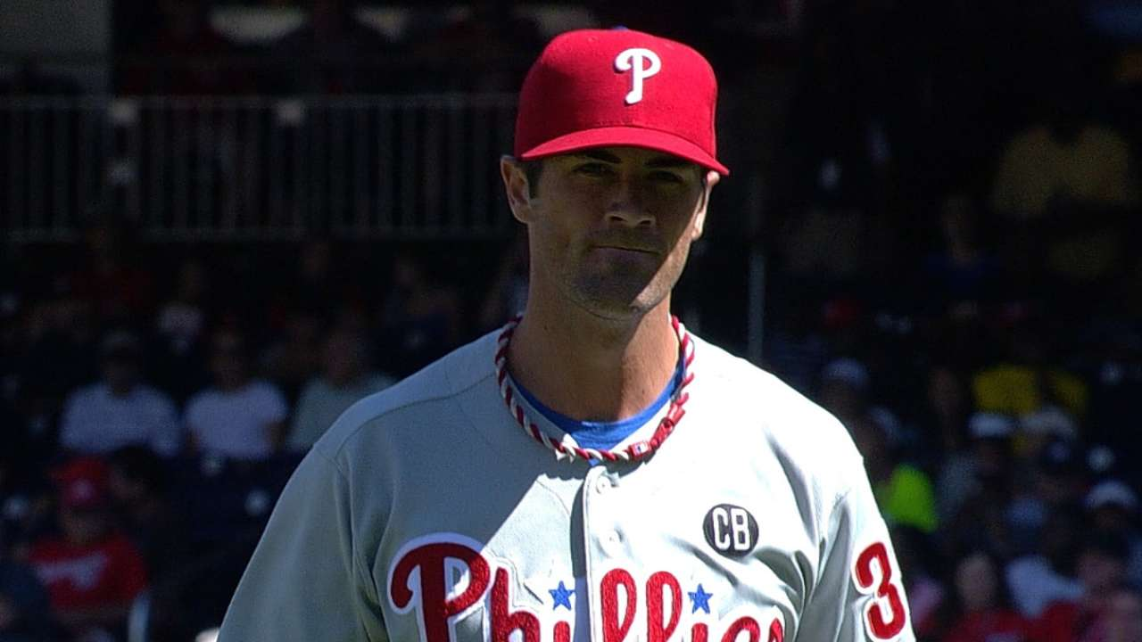 Hamels takes rare loss to Nationals in finale