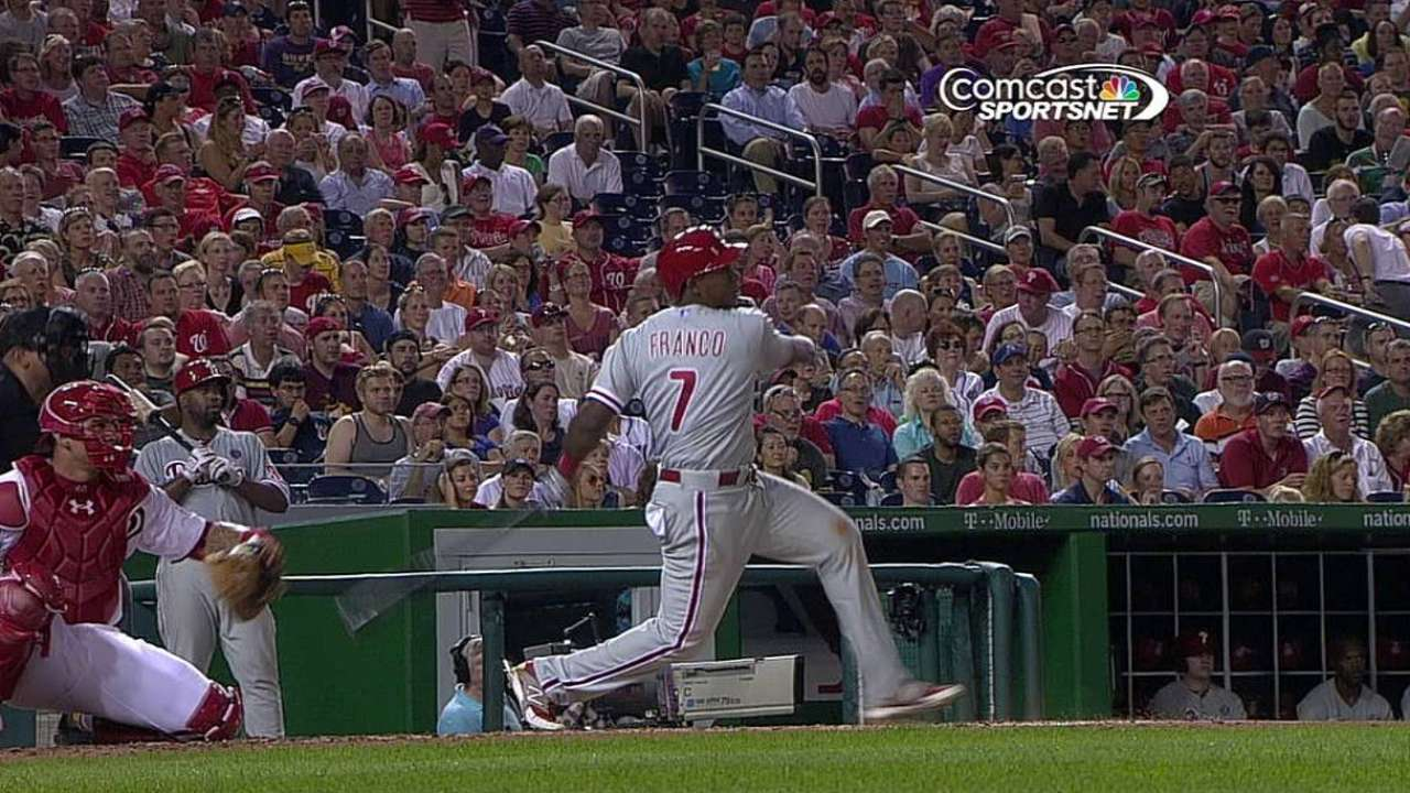 Franco's first Major League hit