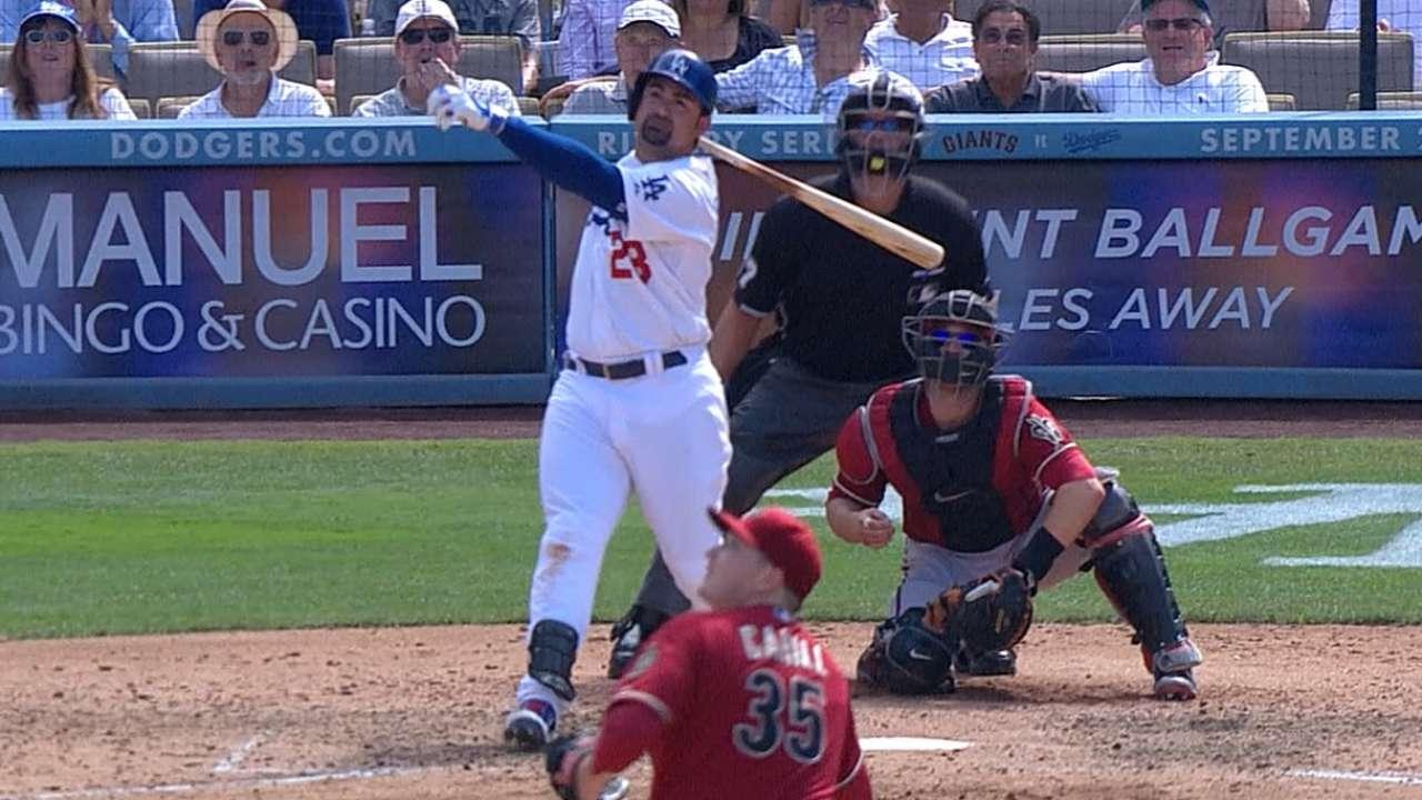 Adrian homers twice as Dodgers sweep D-backs