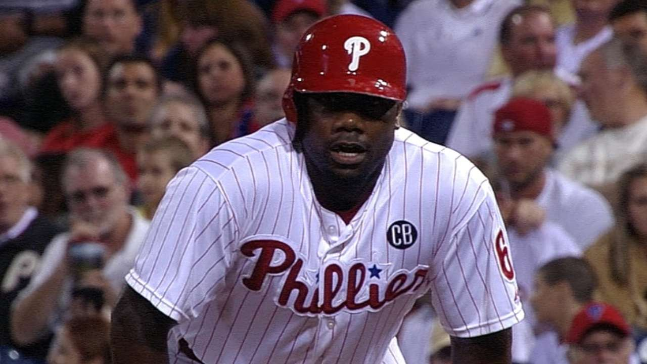 Rollins gets Phils going, but late rally falls short