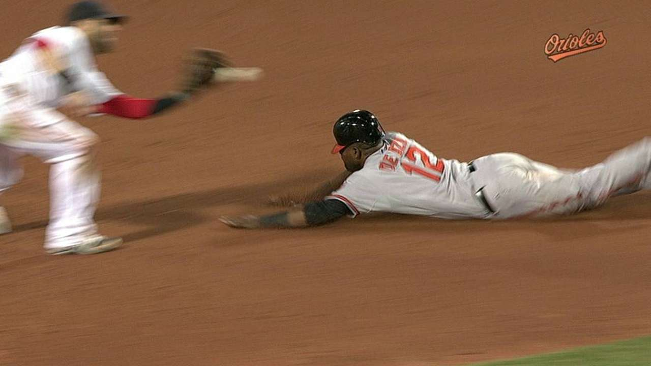 O's lose review on close play at second base