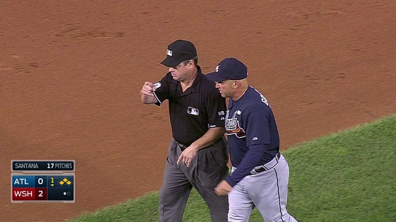 Fredi unsuccessful on first-inning challenge