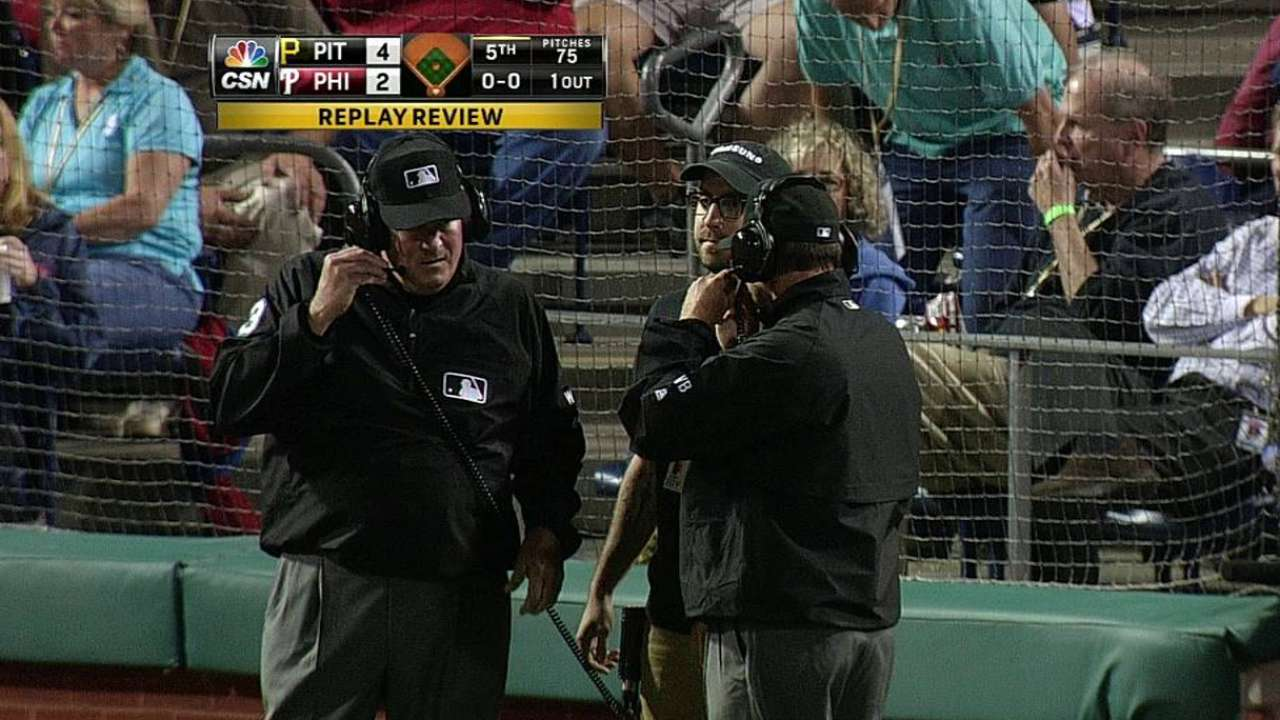 Marte has home run overturned by instant replay