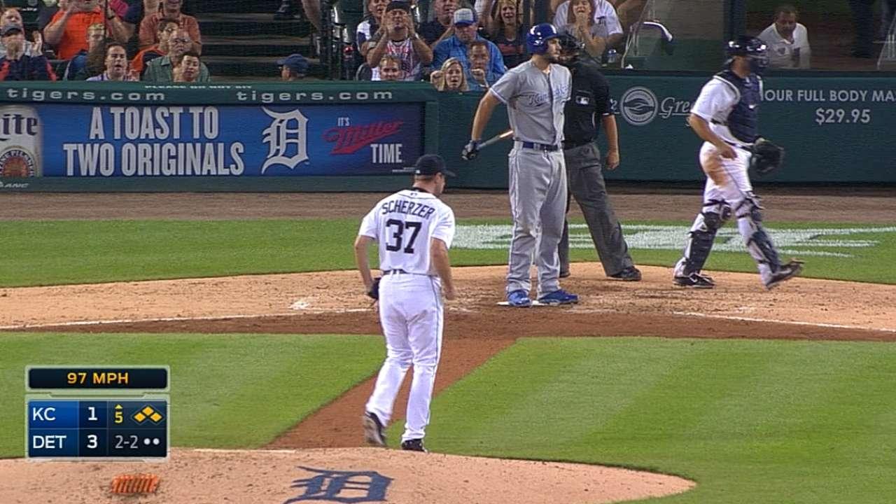 Gordon just misses homer off Scherzer