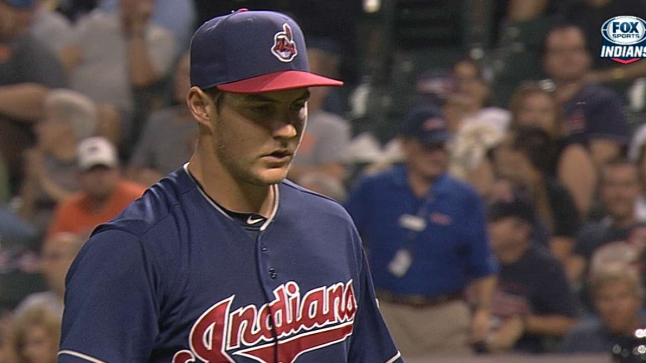 Bauer's eight strikeouts