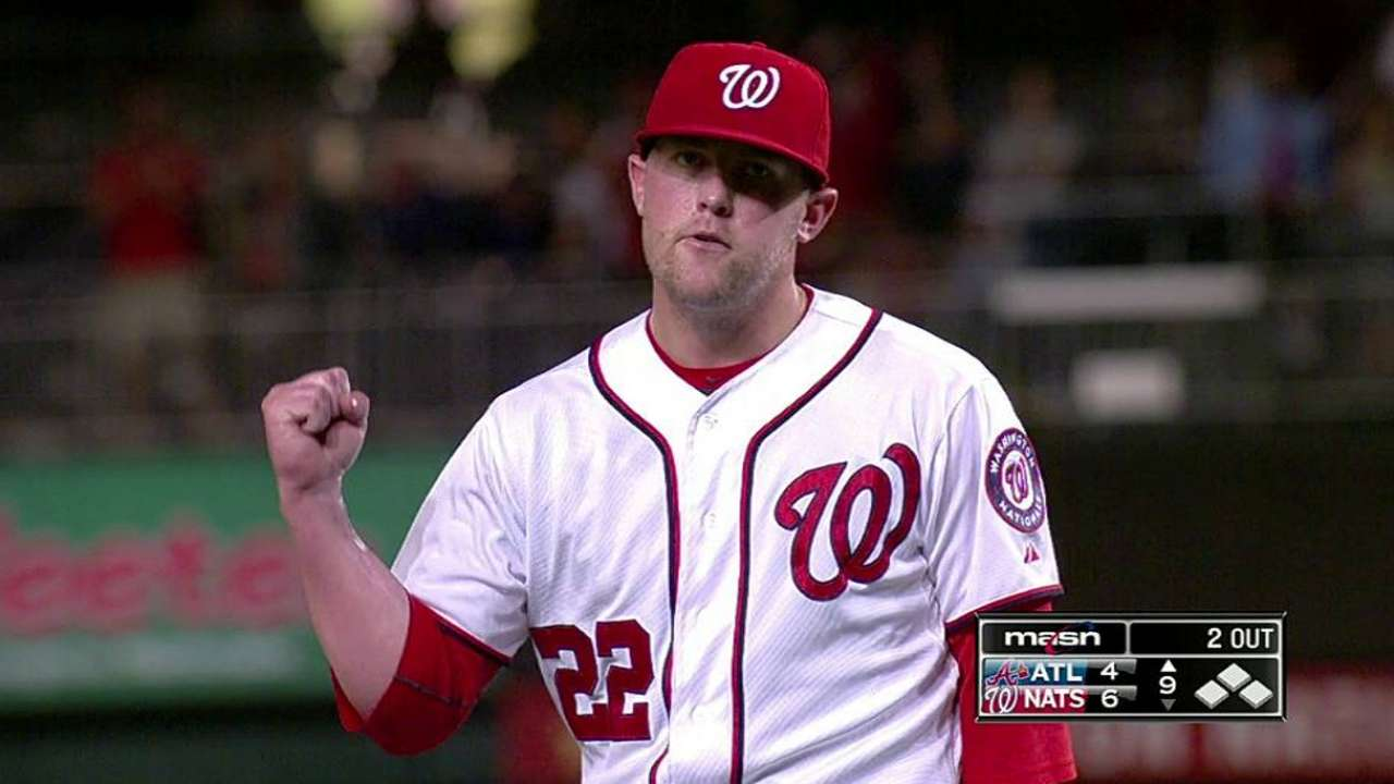 Storen steps in seamlessly to fill closer's role