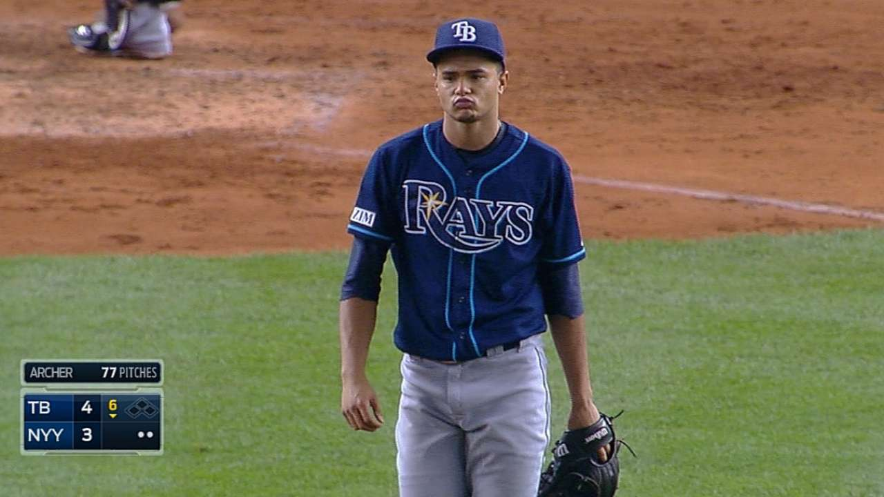 Archer makes early lead stand up as Rays top Yanks