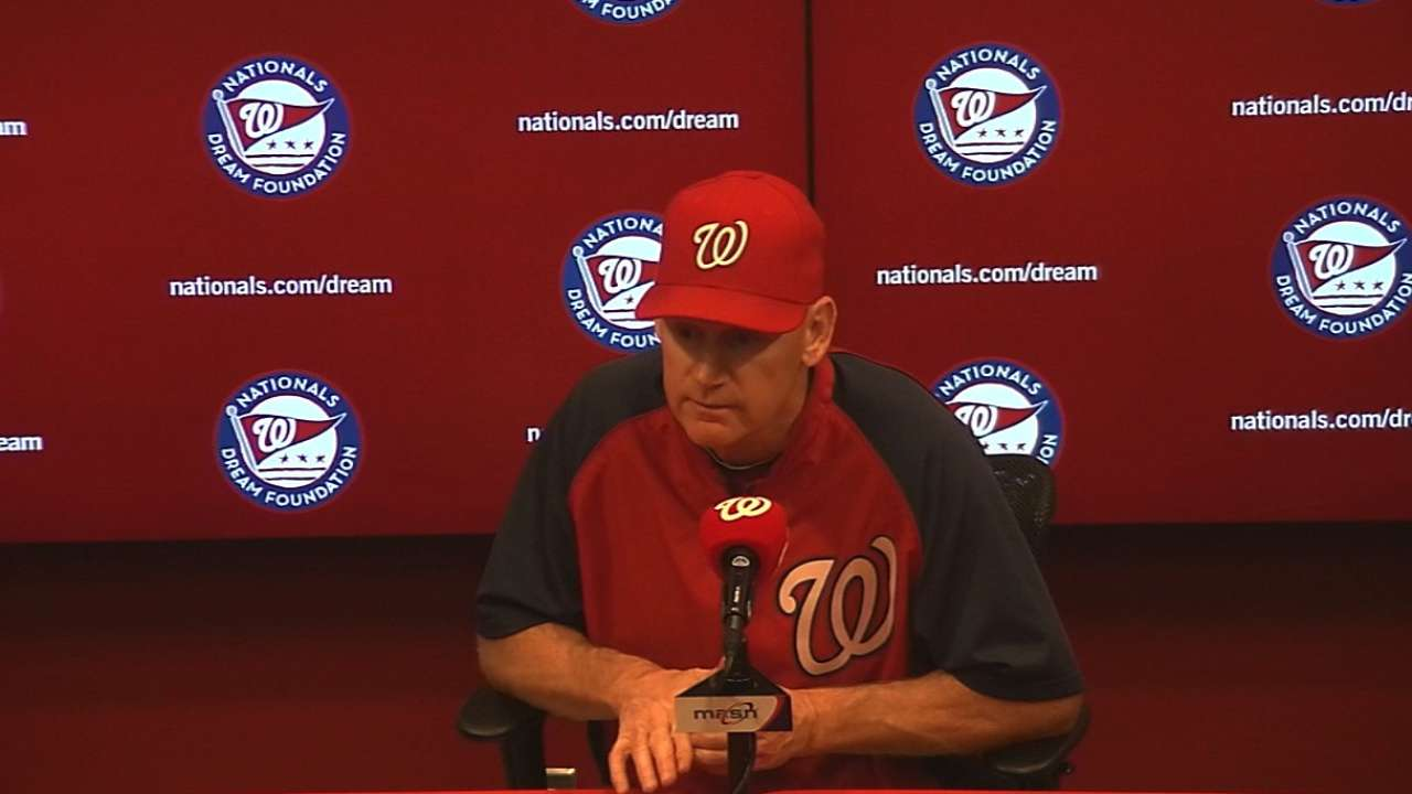 Williams pushing right buttons in Nats' bullpen