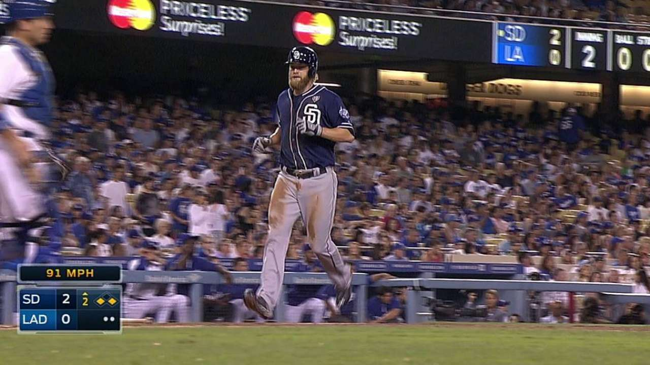 Padres try rookie infielder Spangenberg in left field