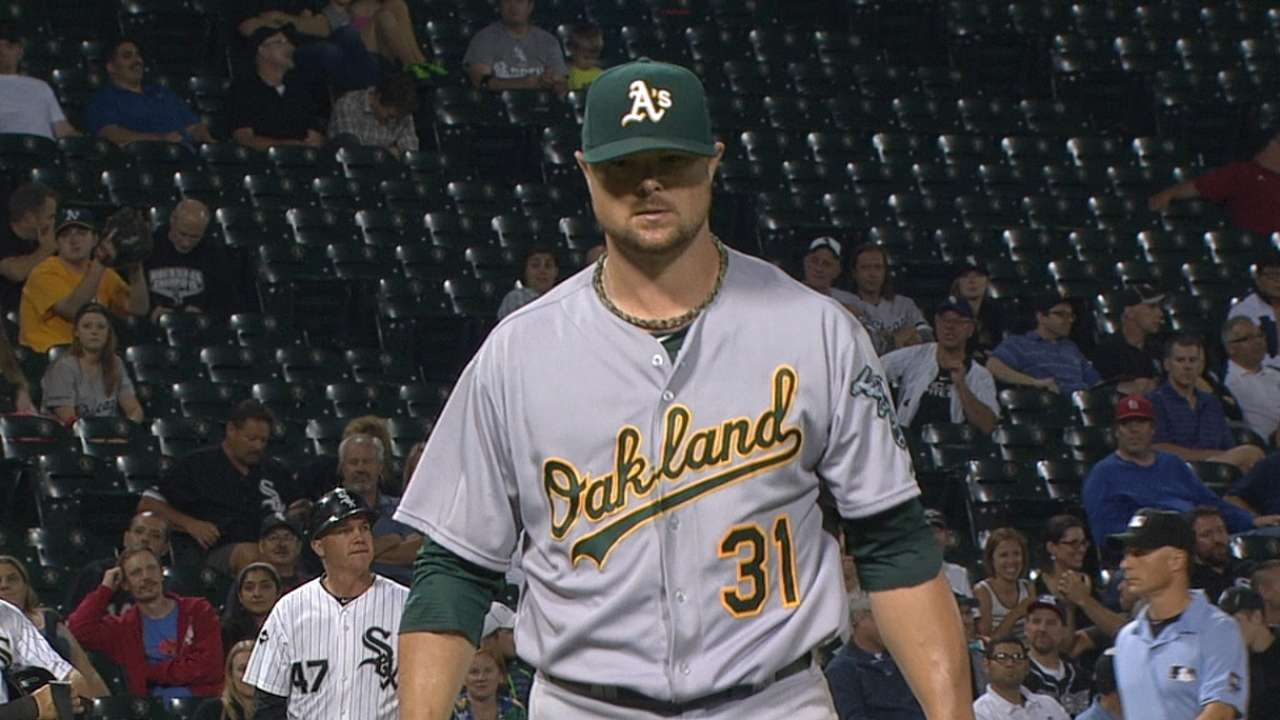 Lester, A's cruise to keep AL Wild Card lead