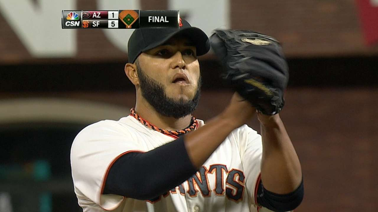 Petit masterful as Giants gain on Dodgers