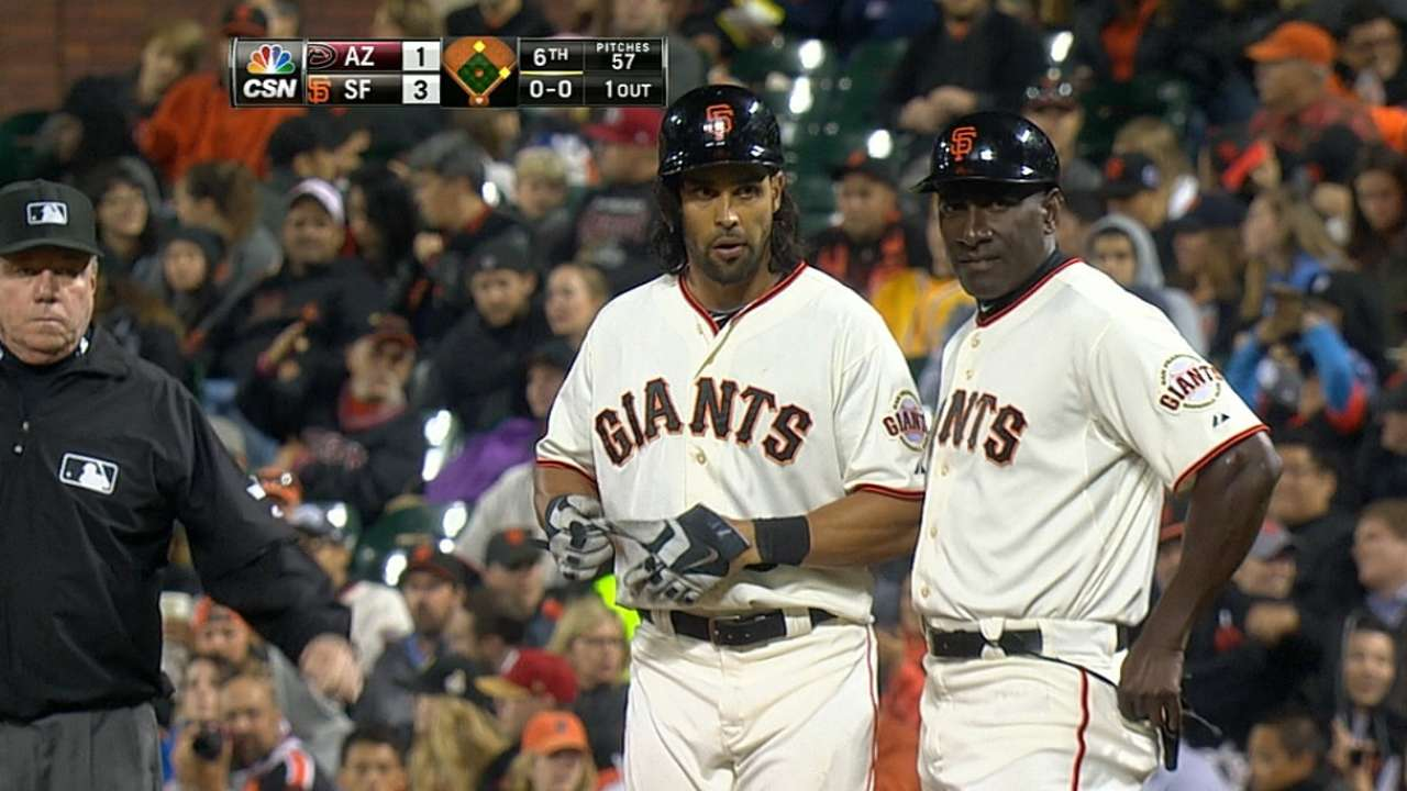 Stiff back takes Pagan out of lineup vs. D-backs