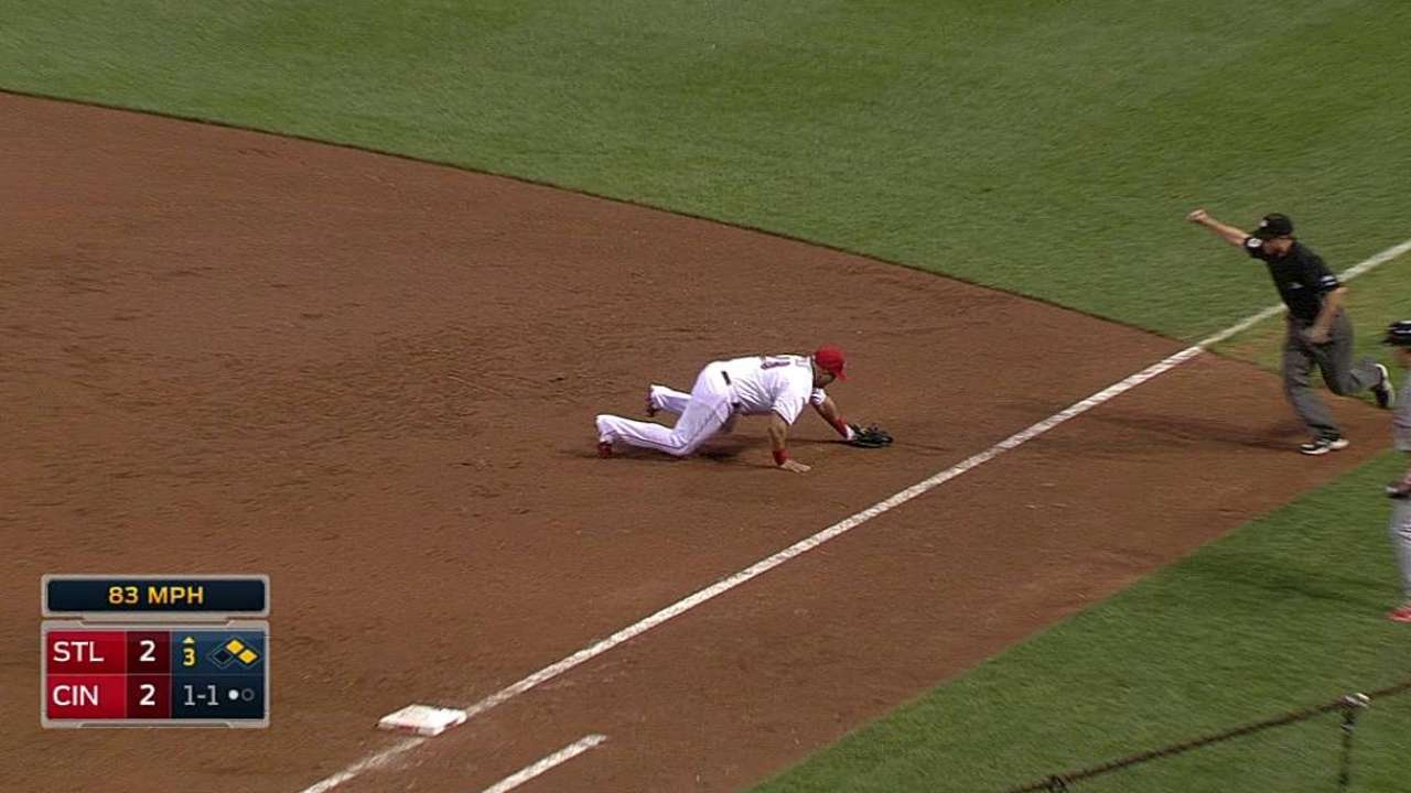 Pena's unassisted double play