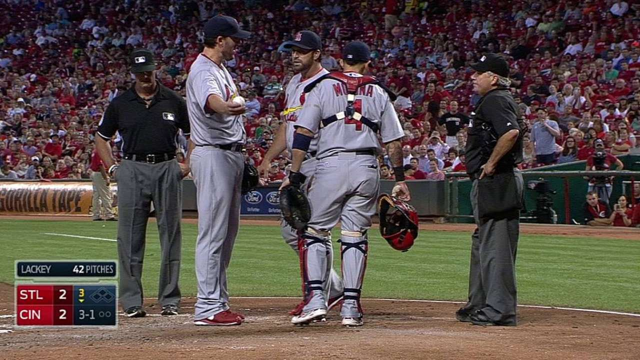 Cards to skip Lackey during series vs. Brewers