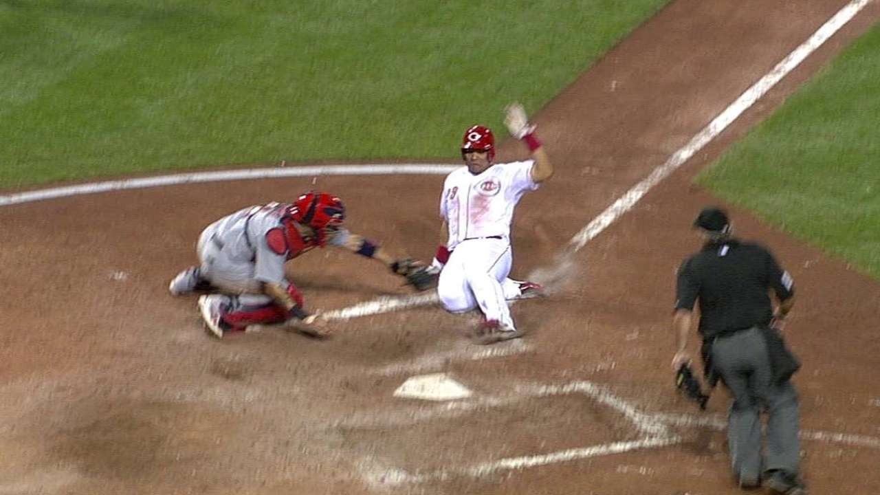 Numbers show Reds aggressive running to home plate