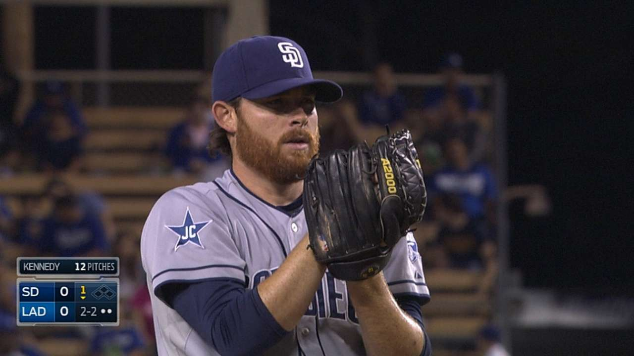 Kennedy still searching for answer vs. Dodgers