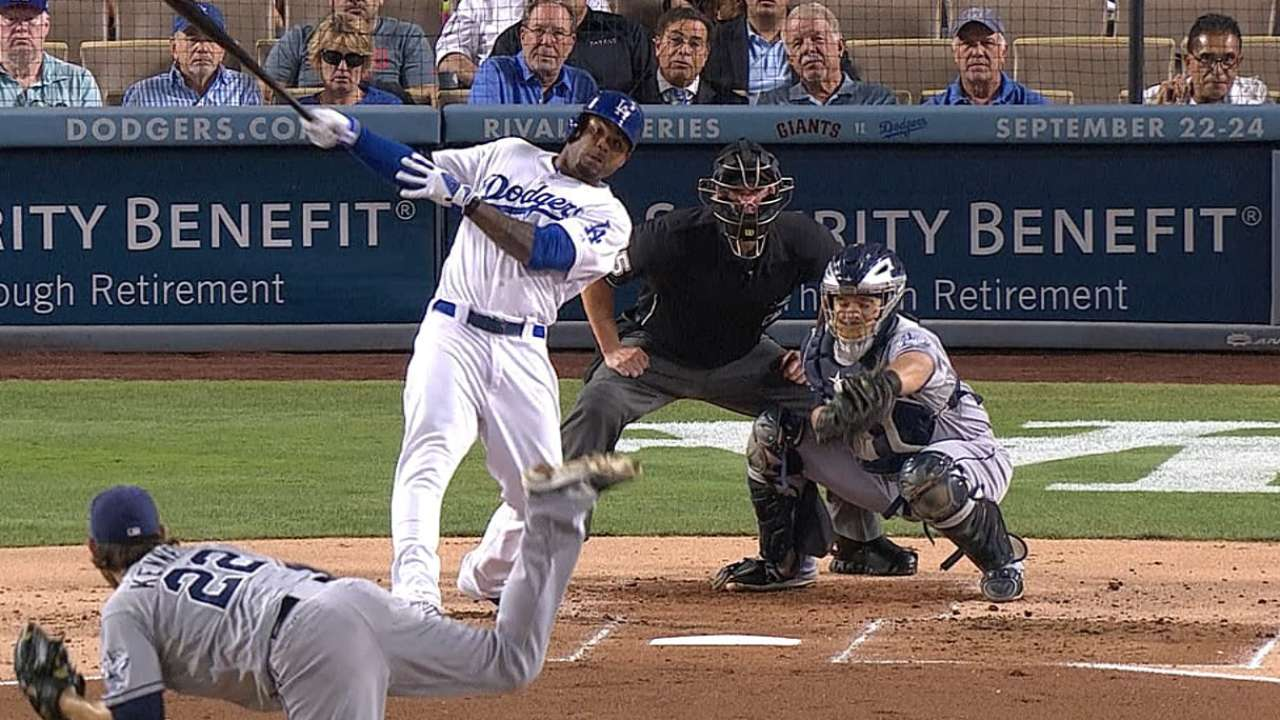 Crawford backs Haren as Dodgers shut out Padres