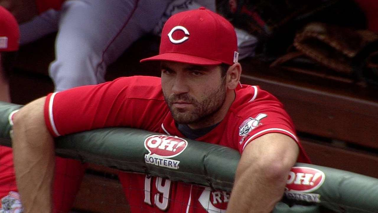 Aiming to return this season, Votto takes another step