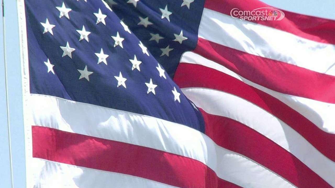 Giants, D-backs commemorate 9/11 heroes in pregame ceremony