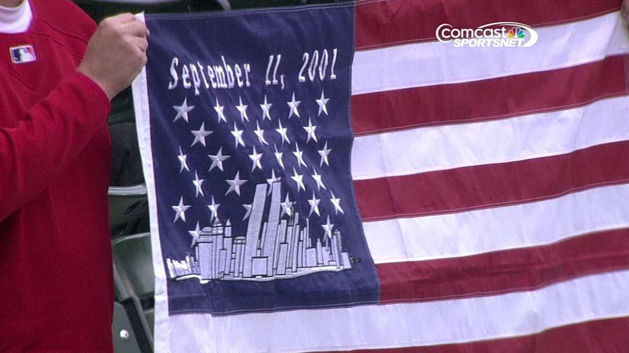 White Sox, A's pause to remember 9/11 heroes